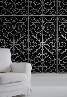 Domestic Sluttery: Wallpaper Wednesday: Wrought Iron by Young & Battaglia