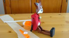 """Rustic Jig Doll """"Foxy"""" -- Hand Crafted Wooden Dancing Doll"""