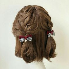 Discount Airfares Through The USA To Germany - Cost-effective Travel World Wide Buy Twin Bear Plaid Bow Hair Clip Yesstyle Kawaii Hairstyles, Cool Hairstyles, Short Braided Hairstyles, Pigtail Hairstyles, Hairstyles 2018, Twist Hairstyles, Black Hairstyles, Wedding Hairstyles, Aesthetic Hair