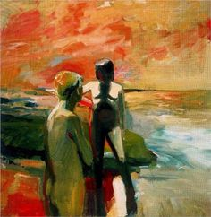 Two Figures at the Seashore - Elmer Bischoff