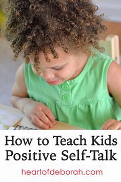 As a school psychologist I loved teaching kids about positive self-talk. Now as a parent I am learning to model self-talk for my toddler. Read more about the importance of self-talk in kids.