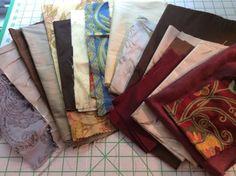 18 Piece Lot Fabric Scraps For Crafts, Scalamandre, Stroheim, Etc. in Crafts | eBay