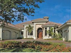 Eplans Mediterranean House Plan - Extraordinary One-Story - 4049 Square Feet and 4 Bedrooms from Eplans - House Plan Code HWEPL13692