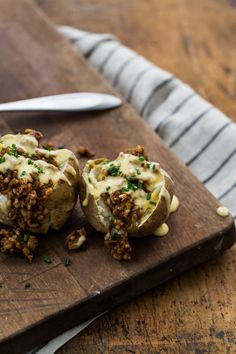 Cheesy BBQ Vegetarian Loaded Potatoes | Naturally Ella make sure BBQ sauce is Gluten-free