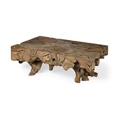 Jati is a one of kind rectangular teak coffee table. It is made from the roots of Indonesian hardwoods that are intricately selected and assembled to product a functional work of art that shows the amazing grain, growth patterns and qualities of the wood,  that will always be a conversation starter in any room it is placed in. Each table with be slightly different and unique to you.