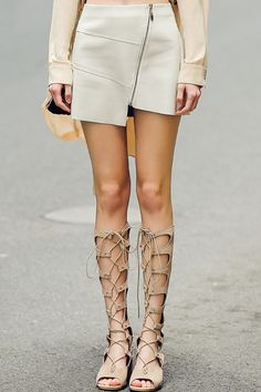 I love both, the boots and the leather Skirt