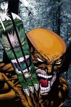 #Wolverine #Fan #Art. (Wolverine VS HULK. Colors) By: JamesLeeStone.