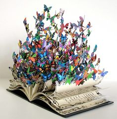 Altered books doesn't come close; METAMORPHOSED book!