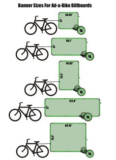 Ad-a-Bike Billboard size options