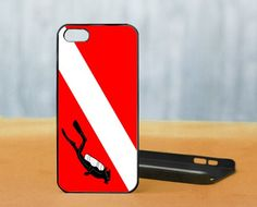 Scuba Diving Flag, iPhone 5 Black Case Cover
