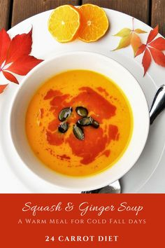 This easy crockpot squash soup recipe features summer squash, kohlrabi, and ginger for a truly unique flavour. It's low-carb and gluten-free. It easily transforms into a dairy-free or vegan soup recipe and is both Paleo and Keto friendly. Check it out today on 24 Carrot Diet!