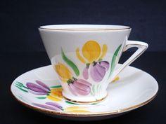 Stanningly Beautiful Cup and Saucer Set Art Deco Teacup Set Phoenix  Fine Bone China England
