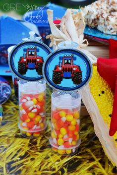 Candy corn favors at a farm birthday party! See more party ideas at CatchMyParty.com!