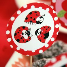 Ladybug Party Printable Set by PixieBearParty on Etsy