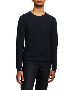 Theory Men's Medin Solid Cashmere Crewneck Sweater In Air Force Multi Crewneck Sweater, Pullover Sweaters, Men Sweater, Neiman Marcus, Theory, Air Force, Cashmere, Crew Neck, Mens Fashion