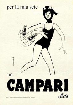 """""""Per la mia sete un Campari Soda"""" - Franz Marangolo - ca. 1960"""