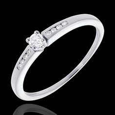 acheter on line Solitaire Octave or blanc   - diamant 0.07 carat