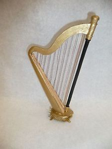 Miniature-Dollhouse-1-12-Scale-Artisan-Made-Harp