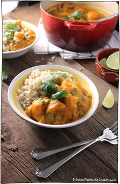 Thai Sweet Potato Curry. Blend the sweet potatoes with spices, vegetable broth, and coconut milk to make a creamy, silky curry sauce. T