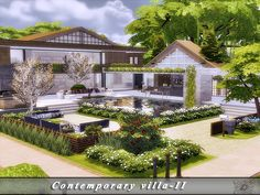 This house was built in two scenery: summer and winter. Found in TSR Category 'Sims 4 Residential Lots'