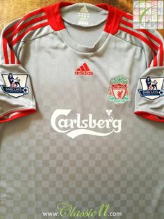 3df6883f2e240 2008/09 Liverpool Away Classic Football Shirt / Vintage Soccer Jersey    Classic Football Shirts