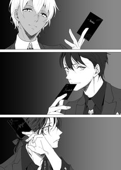 what a bonding Amuro Tooru, Group Art, Anime Kiss, Magic Kaito, Case Closed, Doraemon, Conan, Detective, Boy Or Girl