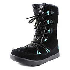 The North Face Thermoball Apres Bootie - Women's Tnf Black/Kokomo Green, 10.0 *** Click image for more details.