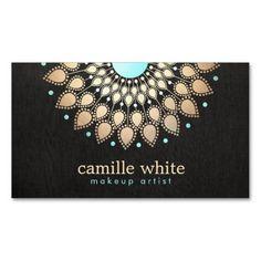 Negro adornado del adorno del oro elegante del art plantillas de tarjetas personales