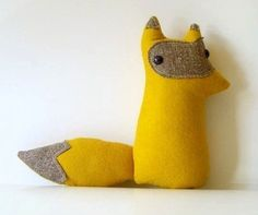 Handmade plush woodland fox Grey Poupon by sleepyking on Etsy. $28.00, via Etsy.