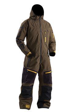 TOBE Privus Mono Suit, Dark Olive - Snowmobile, ski and snowboard one-piece suit. 100% windproof, 100% waterproof, breathable Sympatex Membrane. #chooseyourpath
