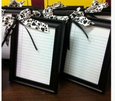 Mini Dry Erase Boards Craft....perfect for the kitchen