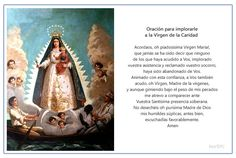 Imagen para imprimir de la plegaria para implorarle a la Virgen de la Caridad