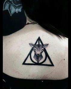 #blackwork #girltattoo #ink #tattoo #harrypotter #geometrictattoo #neotraditional #blackandwhite