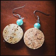 wine cork earrings - DIY tutorial