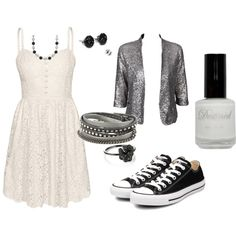 Classic Black and White, created by rayzbow on Polyvore