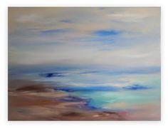 Ocean Abstract Modern Seascape Hand painted par sherischart sur Etsy