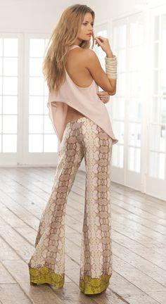 Alexis Snakeskin Pants