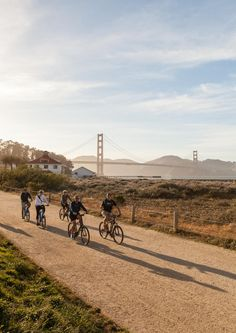 Biking beside San Francisco Bay