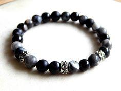 Bracelet homme pierres naturelles style ethnique : Bijoux pour hommes par caromoon