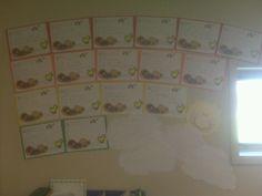 Kindergarten creative writing spring display