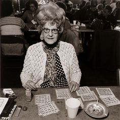 Bingo Player at Saint Casimer's [sic] Church Hall, 1979Elinor Cahn.      I Love her even more! She's fabulous! That's what I want to look like in 10 years.