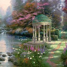 "My  FAV   Thomas Kinkade    ""The Garden of Prayer"""