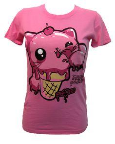 Newbreed Girl Kittikone T-Shirt   Gothic Clothing   Emo clothing   Alternative clothing   Punk clothing - Chaotic Clothing. Sooo cute!
