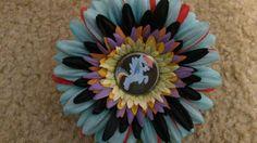 Rainbow dash flower clip