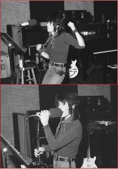 Joan Jett in the studio
