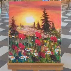 #28 #April #2016 #Throwback #Tb A month ago the mall from an art exhibition drawing of a painter. Sunset  Painter Uğur Dönmez by nilayozn