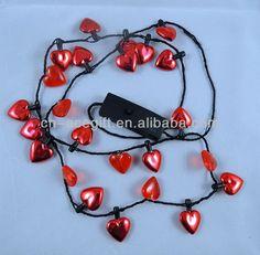 christmas light up necklace, led light up necklace, Flashing ...