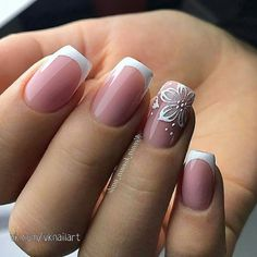 False nails have the advantage of offering a manicure worthy of the most advanced backstage and to hold longer than a simple nail polish. The problem is how to remove them without damaging your nails. Cute Nails, Pretty Nails, My Nails, Bride Nails, Wedding Nails, Elegant Nails, Stylish Nails, Spring Nails, Spring Nail Art