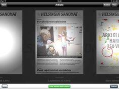 Helsingin Sanomat iPad- & lehtipaketti.     Newspaper is marketing a subscription package: iPad & digital newspaper.