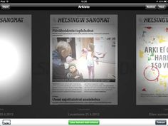 Helsingin Sanomat iPad- & lehtipaketti.     Newspaper is marketing a subscription package: iPad & digital newspaper.